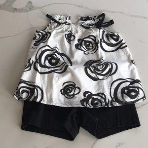GAP blouse and SO shorts